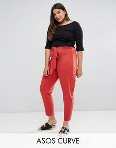d4105db345d Buy Dark Orange Asos curve High waist trousers for woman at best price.  Compare Trousers prices from online stores like Asos - Wossel Global