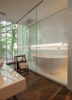 Casa do Flamboyant - Casa CorBathrooms - Baños, banho, banheiro. banheira.