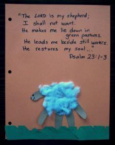 schapen - met vers over David, de beer en de Leeuw