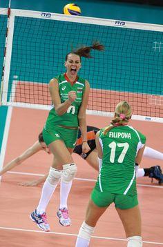 l'esultanza delle giocatrici bulgare