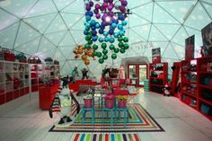 Kate Spade Igloo in NYC Bryant Park, Pop Up Shops, Store, Shopping, Kate Spade, Whimsical, Terrier, Tent, Storage