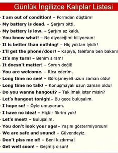 Learn Turkish Language, Breakup Songs, Dead To Me, Esl, English Language, Languages, Karma, Vocabulary, Helpful Hints