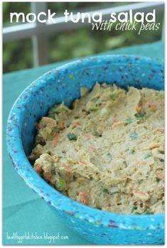 "chickpea ""tuna"" salad--no tofu add greek yogurt"