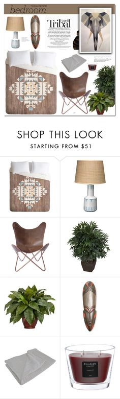 """""""Tribal decor-Bedroom"""" by cly88 ❤ liked on Polyvore featuring interior, interiors, interior design, home, home decor, interior decorating, ESPRIT, DENY Designs, Jamie Young and Nearly Natural"""