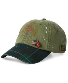 Men's Paint-Splatter Crested Cap $98.50 This spirited cap from Polo Ralph Lauren features a unique paint-splatter effect, as well as a classic Black Watch tartan bill and a herringbone-patterned shell. Completing its look are screen-prints and a repp tie-inspired interior sweatband pattern. Tartan Tie, Vintage Closet, Mens Caps, Baby Girl Newborn, Boys Shoes, Baby Shower Gifts, Bag Accessories, Paint Splatter, Polo Ralph Lauren