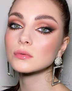 45 Wedding Make Up Ideas For Stylish Brides ❤ wedding makeup light lips arrows gold eyeshadows deniskartashev #weddingforward #wedding #bride #weddingmakeup #weddingbeauty