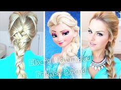 Volumised French Braid Hair Tutorial ~ Frozen Elsa - YouTube