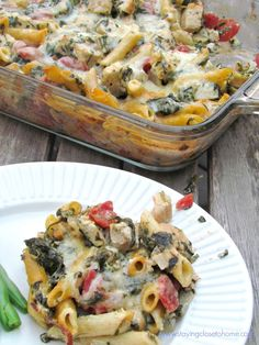 Make Ahead Dinners- Chicken & Spinach Pasta Bake Recipe - Close To Home