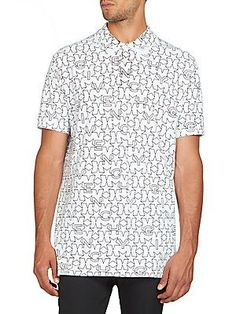 Givenchy Stars Polo - White - Size
