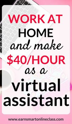 Virtual assistant jobs are in high demand these days and you can earn up to 40 dollars per hour just by working from home. This post shows you everything you need to know to get started as a virtual assistant. Online Jobs From Home, Work From Home Jobs, Online Apps, Make Money Writing, Make Money Blogging, Money Tips, Blogging Ideas, Make Money Fast, Make Money From Home