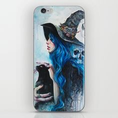 Blue Valentine iPhone Skin by tanyashatseva Iphone 6 Cases, Iphone Skins, Witch Cat, Beach Towel, Beach Bath, Vinyl Decals, Ipod, Fancy, Tote Bag