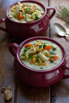 Creamy Chicken Tortellini Soup Recipe | Little Spice Jar
