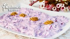 Red Cabbage Coleslaw with Yogurt Dressing Recipe - Recipes Making Red Cabbage, Salad Recipes, Yogurt, Food And Drink, Mavis, Cooking Recipes, Cooking, Eten, Purple Cabbage