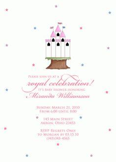 Castle Baby Shower Invitation (Birthday)