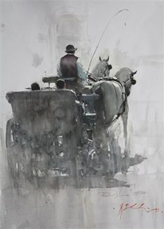 *Watercolor by Joseph Zbukvic Watercolor Artists, Watercolor Paintings, Watercolours, Great Paintings, Landscape Paintings, Joseph Zbukvic, Guache, Wow Art, Equine Art