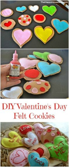 Easy DIY Craft Idea: Valentine's Day Felt Cookies | The Happy Housewife