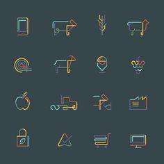 Part of the visual identity for Aglive.  #design #icons #icondesign #iconapop #monoline #linework #visforvector #illustration #vectordesign