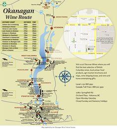 Okanagan Wine Map