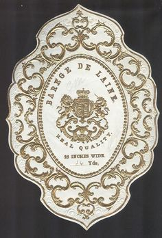 Barege De Laine #realquality embossed linen label Vintage Linen, French Vintage, Typography Letters, Lettering, Tea Labels, Book Logo, Victorian Design, Flourishes, Vintage Labels