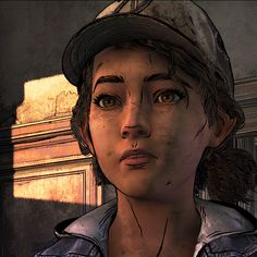 (screenshot by TheComicSunshine) Clementine Walking Dead, Walking Dead Wallpaper, The Walking Dead Telltale, Twd Memes, Lesbian Pride, Video Games, Icons, Drawings, Pink Lyrics