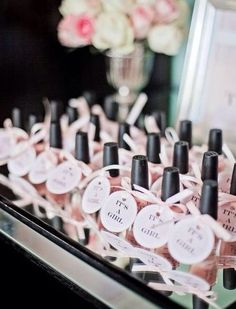 Baby girl shower! Nail polishes opi..