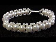# DIY -Pulsera niña, fácil, perlas y tupis cristal# DIY-girl bracelet, pearls and crystal tupis - YouTube