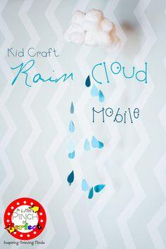 Rain Cloud Mobile Kid Craft/DIY (Updated photo)-so cute and easy!