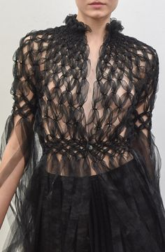 Plaited chiffon or tulle - it appears too soft to be organza ~ Noir Kei Ninomiya…