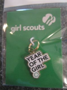 NEW Girl Scout CHARM Year of the Girl Gold Jewelry Bracelet Girl Ldr Multi GIFT  #GirlScoutsofAmerica #Jewelry