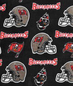 Tampa Bay Buccaneers NFL Fleece Fabric - $10.05   onlinefabricstore.net