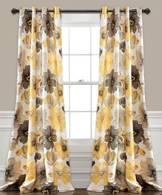 Take a look at this Yellow & Gray Leah Curtain Panel - Set of Two today!