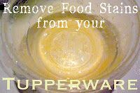 remove stains from your tupperware