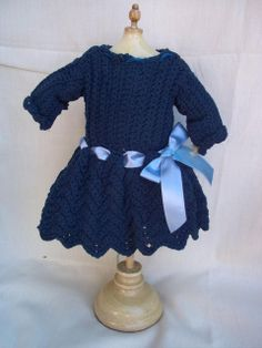 Very Old Knitted Doll dress