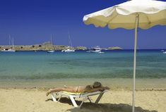Relaxing On The Beach - Lindos In Rhodes