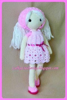 Lalka Crochetka: Lalka Rozalka ... Rozalka doll