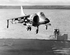 Sea Harrier landing