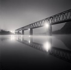 Namhangang Iron Bridge, Danyang, Chungcheongbukdo, South Korea, 2010 ©Michael Kenna