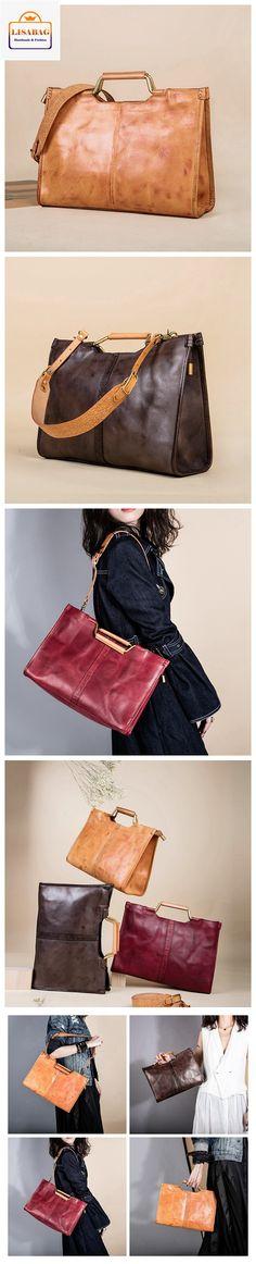 LISABAG--Handmade Top Grain Leather Handbag Women's Fashion Shoulder Bag Awesome Satchel AK32