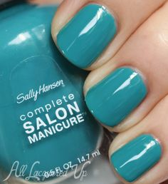 Sally Hansen NewWave Blue nail polish 500x547 Tracy Reese for Sally Hansen Fall 2013 Nail Polish Swatches and Review