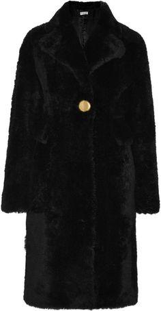 $6,450, Balenciaga Shearling Coat. Sold by NET-A-PORTER.COM. Click for more info: https://lookastic.com/women/shop_items/340812/redirect