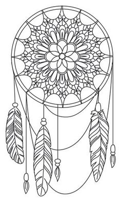 Coloriage anti-stress - Attrape-rêves #coloriageadulte #anti-stress