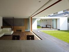 小野里信建築アトリエ の モダンな リビングルーム 高林東町の家