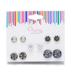 Find More Stud Earrings Information about Good Quality Earrings Pack 5 Pairs Mixed Stud Earrings Ball Stars Love Knot  Gift For Women Earrings Micro Paved Zircon Earring,High Quality gift american,China gift ideas bird lovers Suppliers, Cheap earings china from Vogue Fashion Jewelry Co.,Ltd on Aliexpress.com
