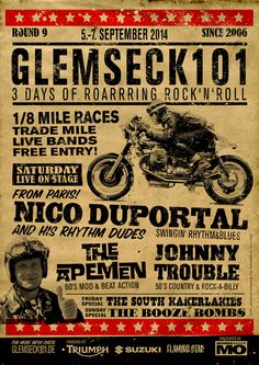 Glemseck 101 - 2014 - After the Race Party - Poster - by Flaming Star