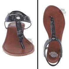 Harley-Davidson® Womens Carrillo EVA Black Leather Sandal 82521