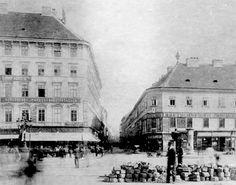 Budapest, 1905. Corner of Király utca & Károly körút. On the right the Orczy house on the left the Gyertyánffy house, today the Anker house.