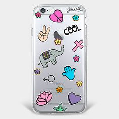 Custom Phone Case Patches Peace and Love