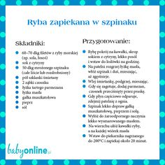 Ryba zapiekana w szpinaku Physical Activities, Baby Food Recipes, Nom Nom, Clean Eating, Food And Drink, Wellness, Cooking, Fitness, Food