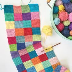 Well this is my last post for the #scmagtakeover. Thanks for having me it's been fun Now I'm off to add a few more squares to my happy scrappy blanket. Bye for now Michelle x @poppyandbliss #tunisiancrochet by simplycrochetmag
