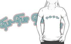 Flip-Flop Fan Club - Teal & Coral Pink Version #beachgifts #beach #gifts #gift Ideas